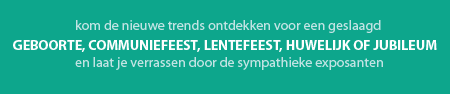 't FEESTPALEIS {dé feestbeurs van de Kempen} logo